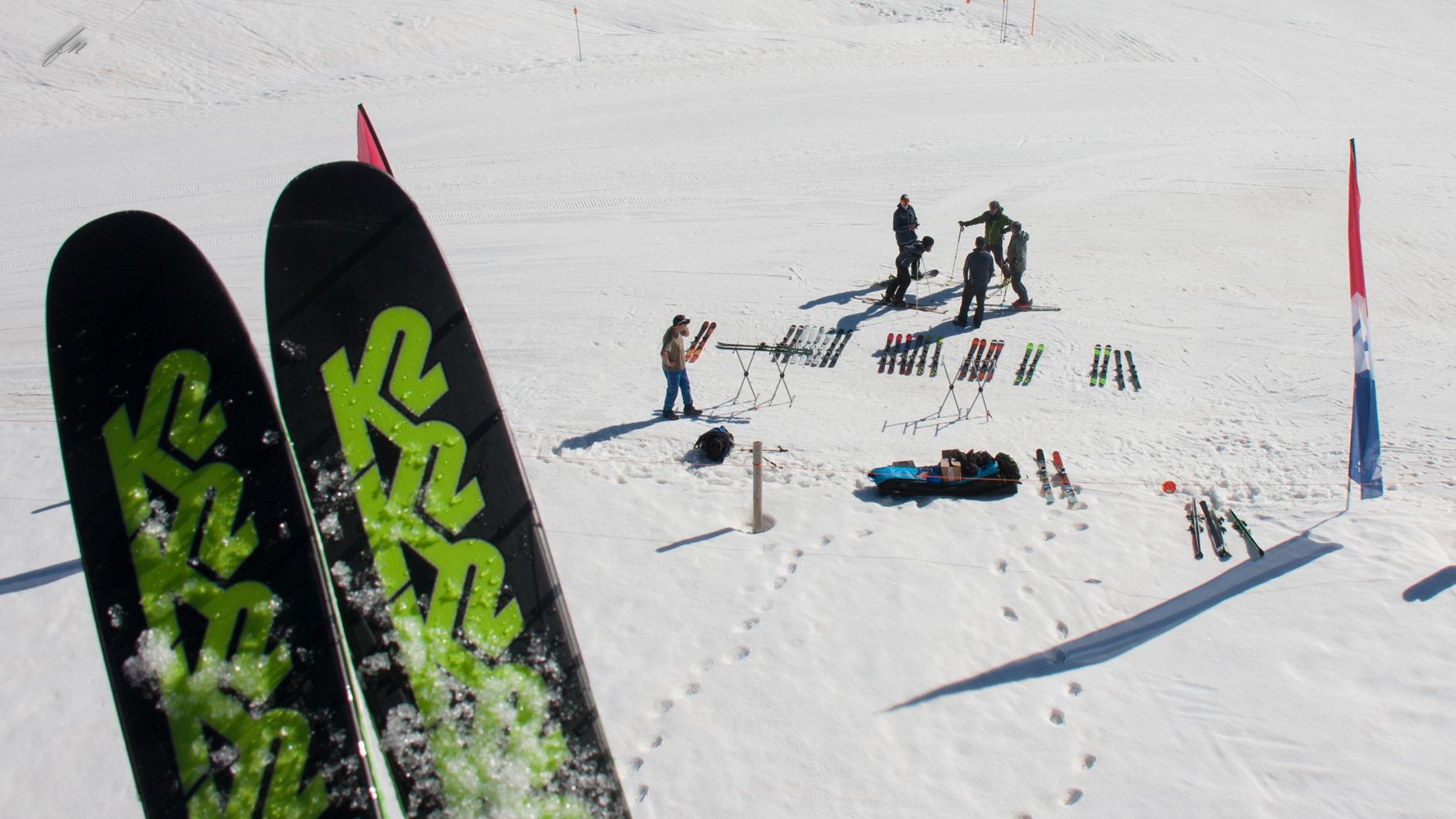 test de K2 skis en Baqueira